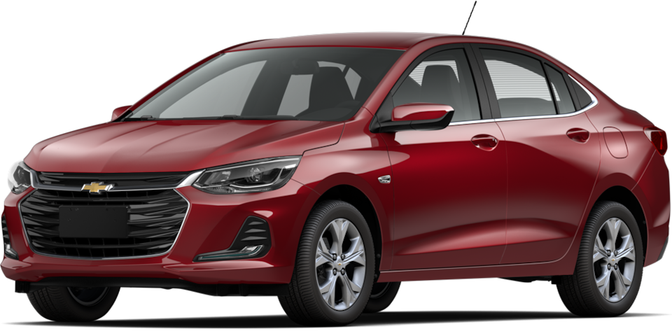 Chevrolet Onix 2021, carro sedán en color rojo escarlata