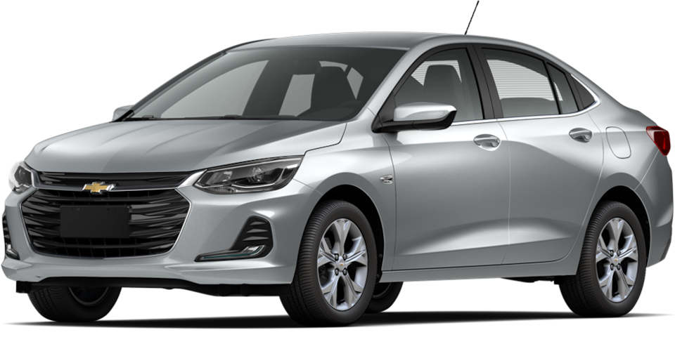 Chevrolet Onix 2021, carro sedán en color plata brillante